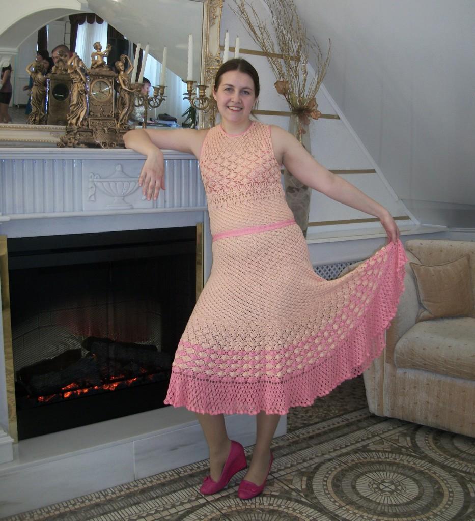 Вязаное платье Ольги Майстер