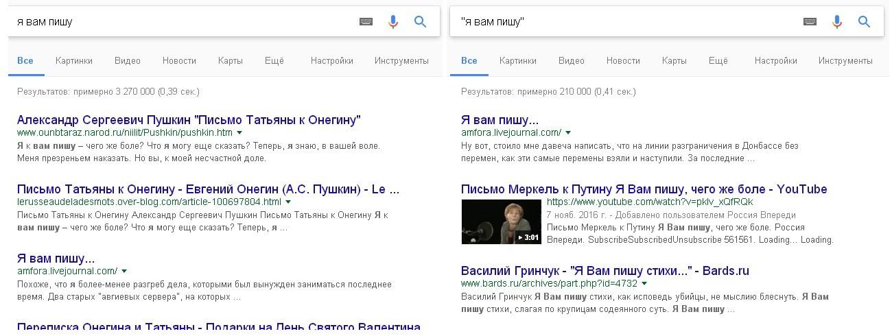 Как найти информацию в Google, используя кавычки